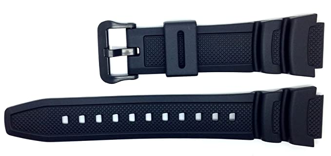Casio 10347820 - Correa para reloj, resina, color negro: Amazon.es: Relojes