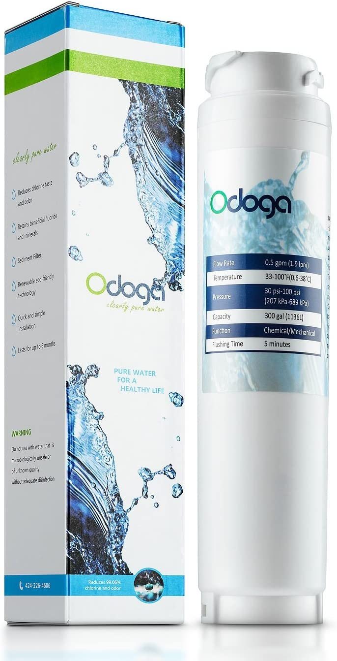 Odoga 9000194412 Refrigerator Water Filter Replacement for Bosch Ultra Clarity 9000194412, 644845, 9000077104, B26FT70SNS, B22CS30SNS, B22CS80SNS, B22CS50SNS, Haier 0060820860, 0060218744