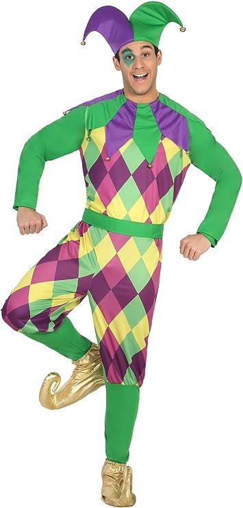Atosa- Disfraz hombre arlequín, Color verde, M-L (16723): Amazon ...