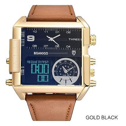 YUNDING Reloj Calendario Mundial Calendario Reloj Pulsera Impermeable Multifuncional Inteligente Hombres Y Mujeres Deportes Reloj Digital