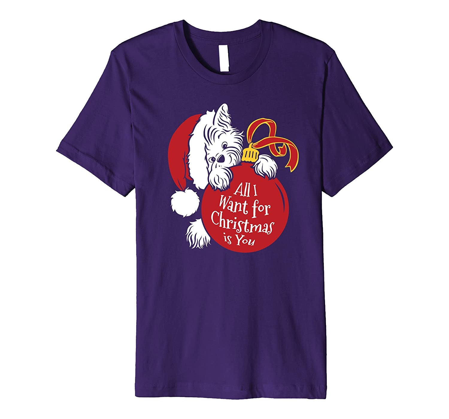Yorkie Holiday Xmas T-shirt - Cute Dog Owners Christmas Tee-FL