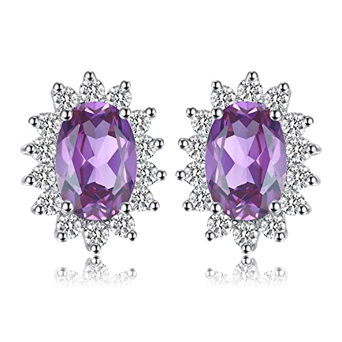 979fe17b5 Jewelrypalace Gemstones Birthstone 1.1ct Natural Amethyst Stud Earrings For Women  925 Sterling Silver Earrings For