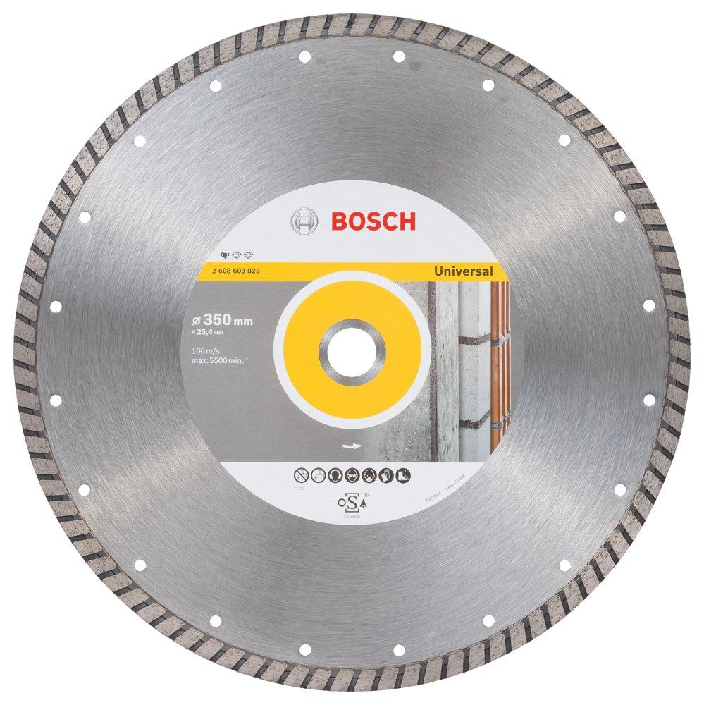 2608603823 BOSCH STANDARD UNIVERSAL TURBO DIAMOND CUTTING DISC 350x25.40x3x10mm