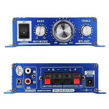 VicTsing Amplificador de Audio estéreo Mini Hi-Fi Coche casa Cine Teatro para el hogar