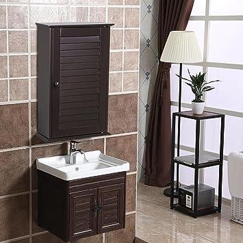 Amazon.com: Yaheetech Wood Bathroom Wall Mount Cabinet Toilet ...
