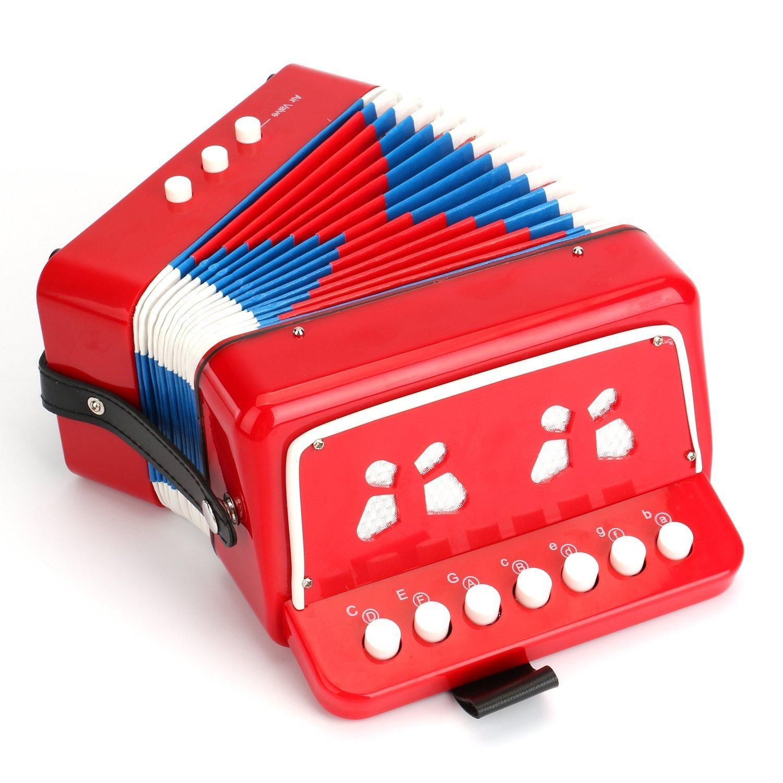 Akkordeon 7Button Kinder Musikinstrumente einfach zu spielen Großartige Kollektion Best Geschenk schwarz YOYOTU