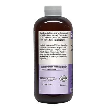Cal-Mag zinc líquido, Naranja-Vainilla, 16 onzas líquidas (480 ml) - MRM: Amazon.es: Salud y cuidado personal