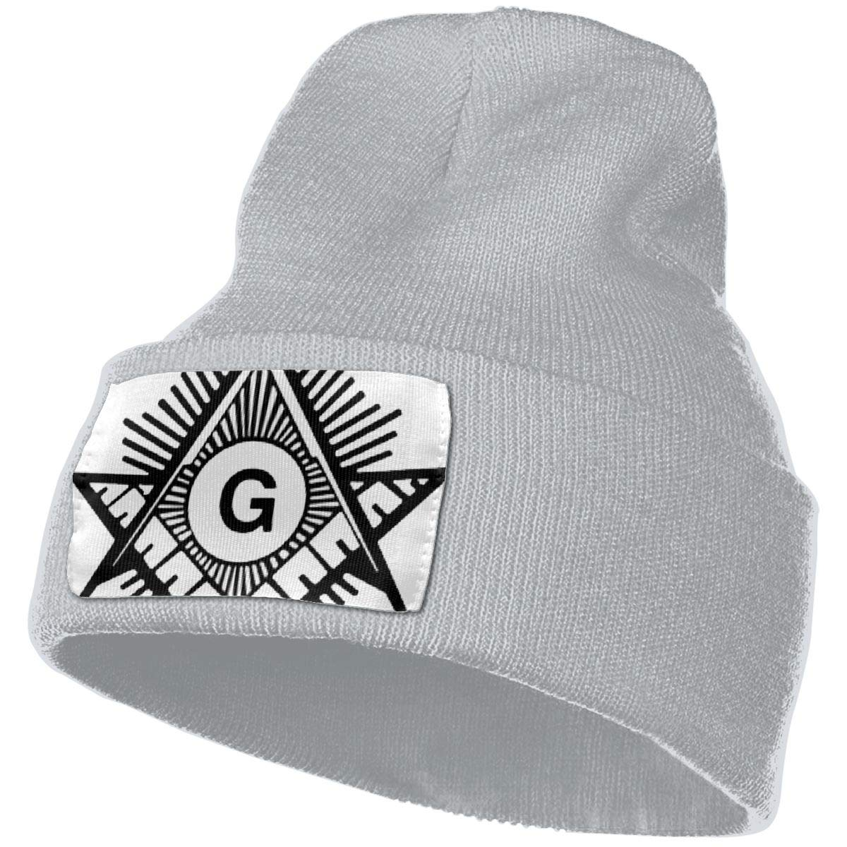 Masonic Compass Hat for Men and Women Winter Warm Hats Knit Slouchy Thick Skull Cap