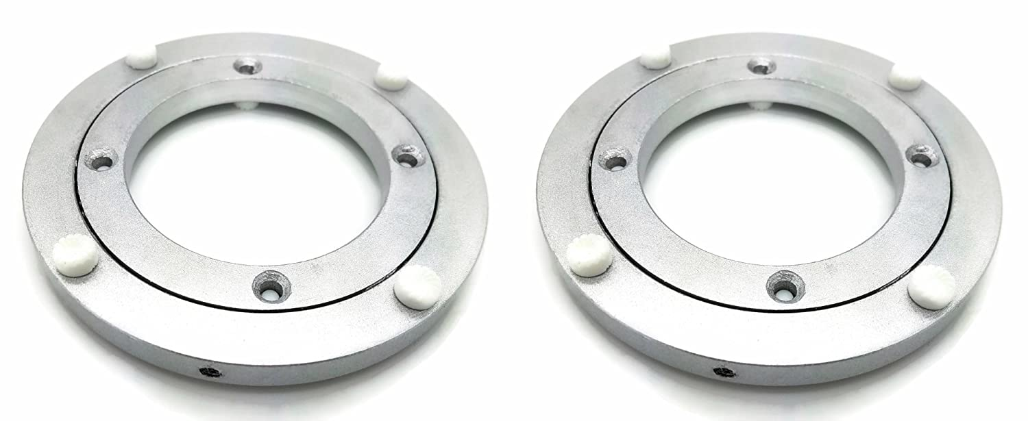 Two (2) 4.5' Inch (120mm) Aluminum Lazy Susan Bearings - Turntable Bearing BC Precision