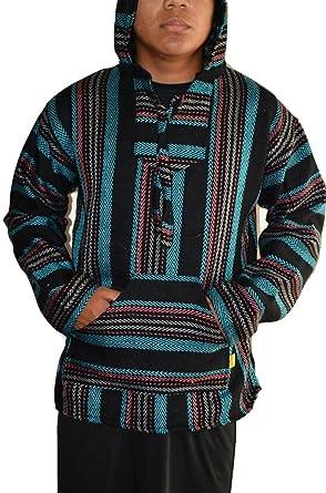 Amazon Com Mexican Baja Hoodie Pullover Jerga Drug Rug Sweater