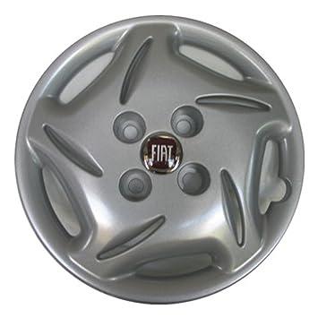 """1 llanta embellecedores Copa cuencos 13 """""""" x coche Fiat 600 con logotipo"""