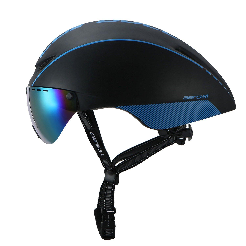 Cairbull Casco de Ciclismo para Adultos Bici Deportes con Gafas 56-61cm Fácil de Usar Eliminar