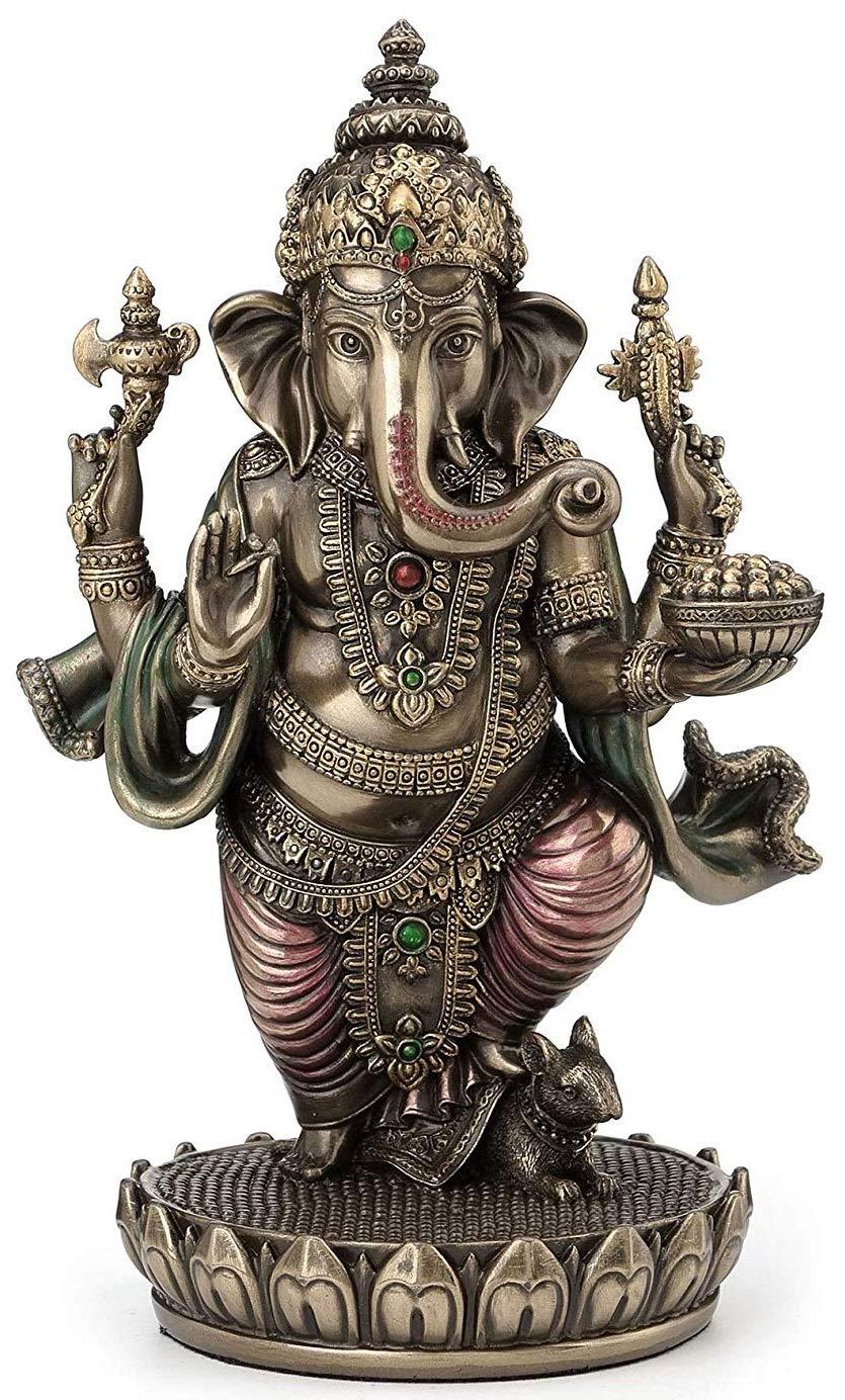 Standing Ganesh (Ganesha) Hindu Elephant God of Success Statue, 7 1/2-inch by JFSM INC