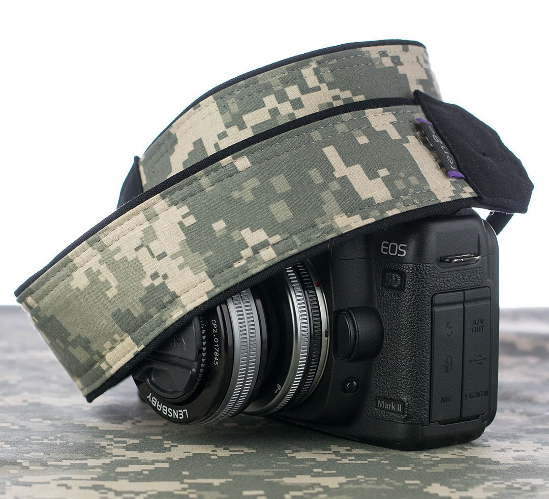 Camera Strap, 294 Digital Camo for dSLR, SLR or Mirrorless Cameras