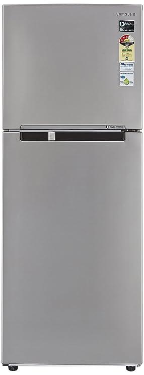Samsung 321 L 3 Star Frost Free Double Door Refrigerator RT34M3053S8, Elegant Inox, Inverter Compressor  Refrigerators