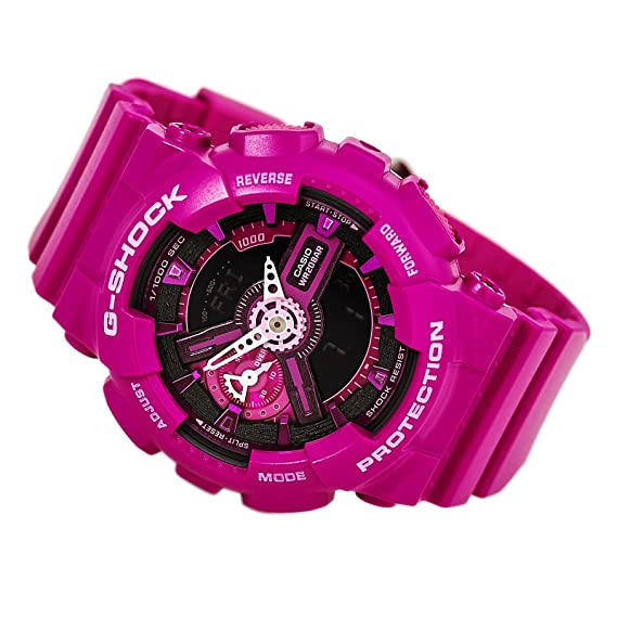 Casio G-Shock Pink and Black Dial Resin Quartz Ladies Watch ...