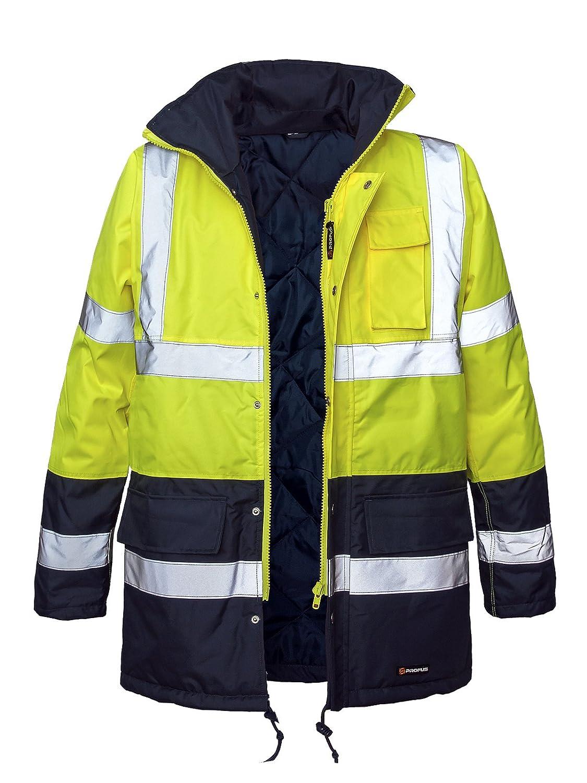 BLIZAR-GELB Marel Winter Warnjacke Warnschutz Pilotenjacke Arbeitsjacke Warnschutzjacke