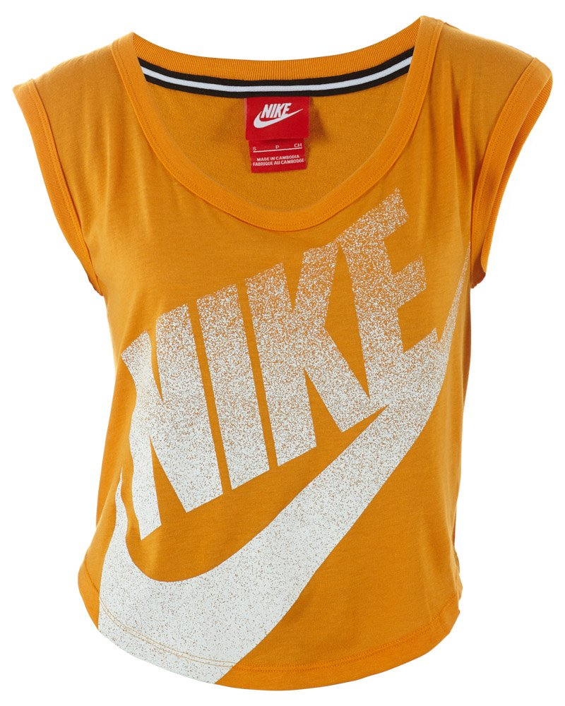 Nike Signal Cropped T-Shirt Womens Style: 586546-861 Size: L by Nike
