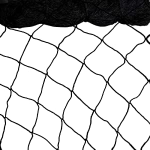 Bird Netting 50'x50' Heavy Duty Nylon Netting for Bird, Poultry,Deer and Other Pests, 2.4'' Square Mesh Garden Netting to Protect Fruit Trees, Plants and Vegetables (50'x50'-2.4'')