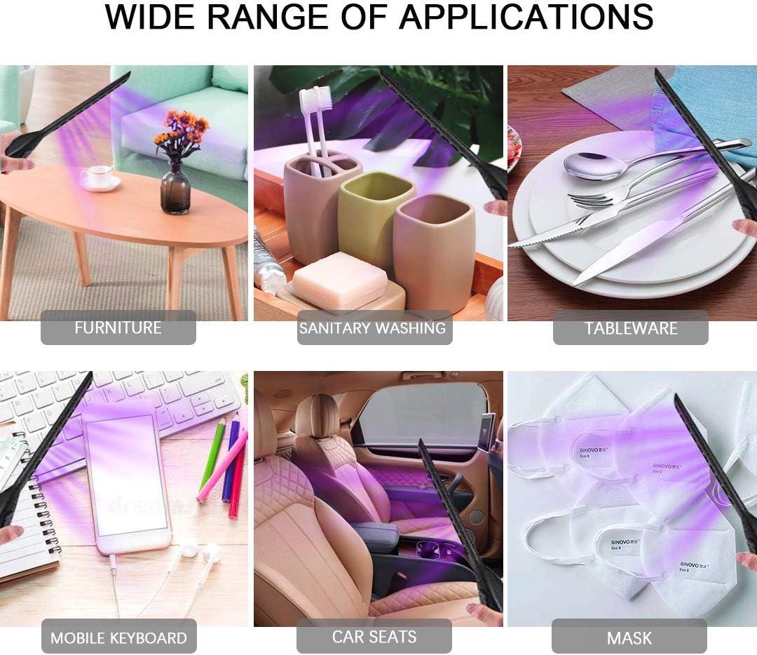 ohne Chemie f/ür Zuhause UV-Licht Auto tragbar Schrank Hotel ICARE Desinfektionslampe USB Desinfektionslampe Haustiere Reisen
