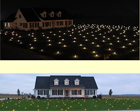 lawn lights illuminated outdoor decoration led christmas 36 08 warm white - Christmas Lawn Decorations Amazon