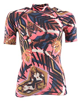 Billabong 2018 Ladies Surf Capsule Short Sleeve Rash Vest TRIBAL H4GY05 Sizes- - Small