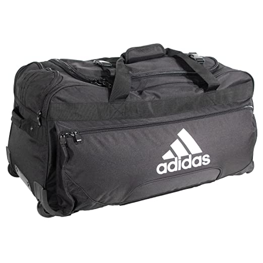 8df8acc2483ec9 Amazon.com: adidas Team Wheel Bag, Black,: Clothing