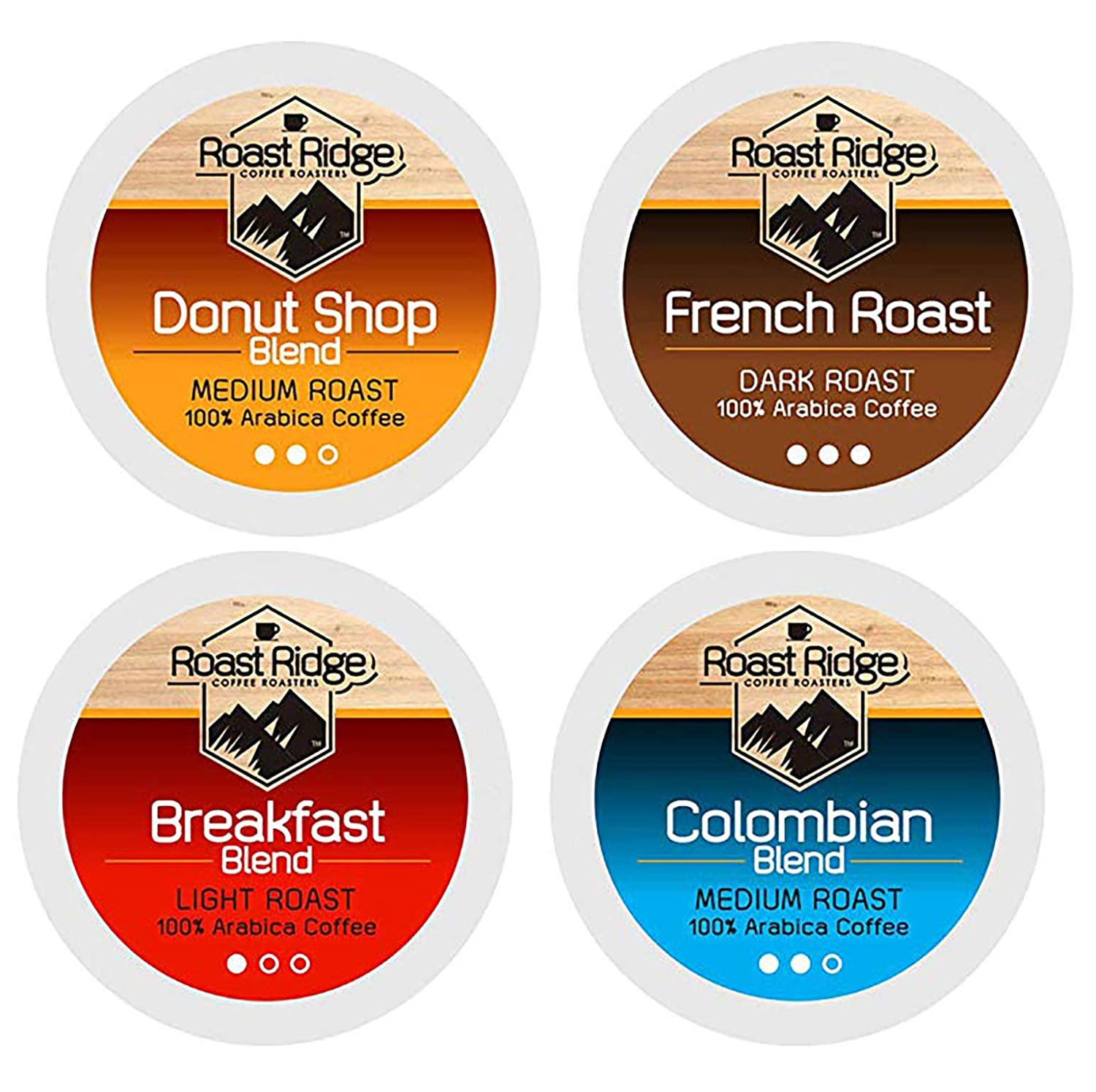 Roast Ridge Coffee Roasters Variety Pack Single Cup Coffee 100 Count Hot Beverage Cups, Compatible with Most Single-Serve Brewing Systems that Accept K-Cups, Including Keurig 2.0