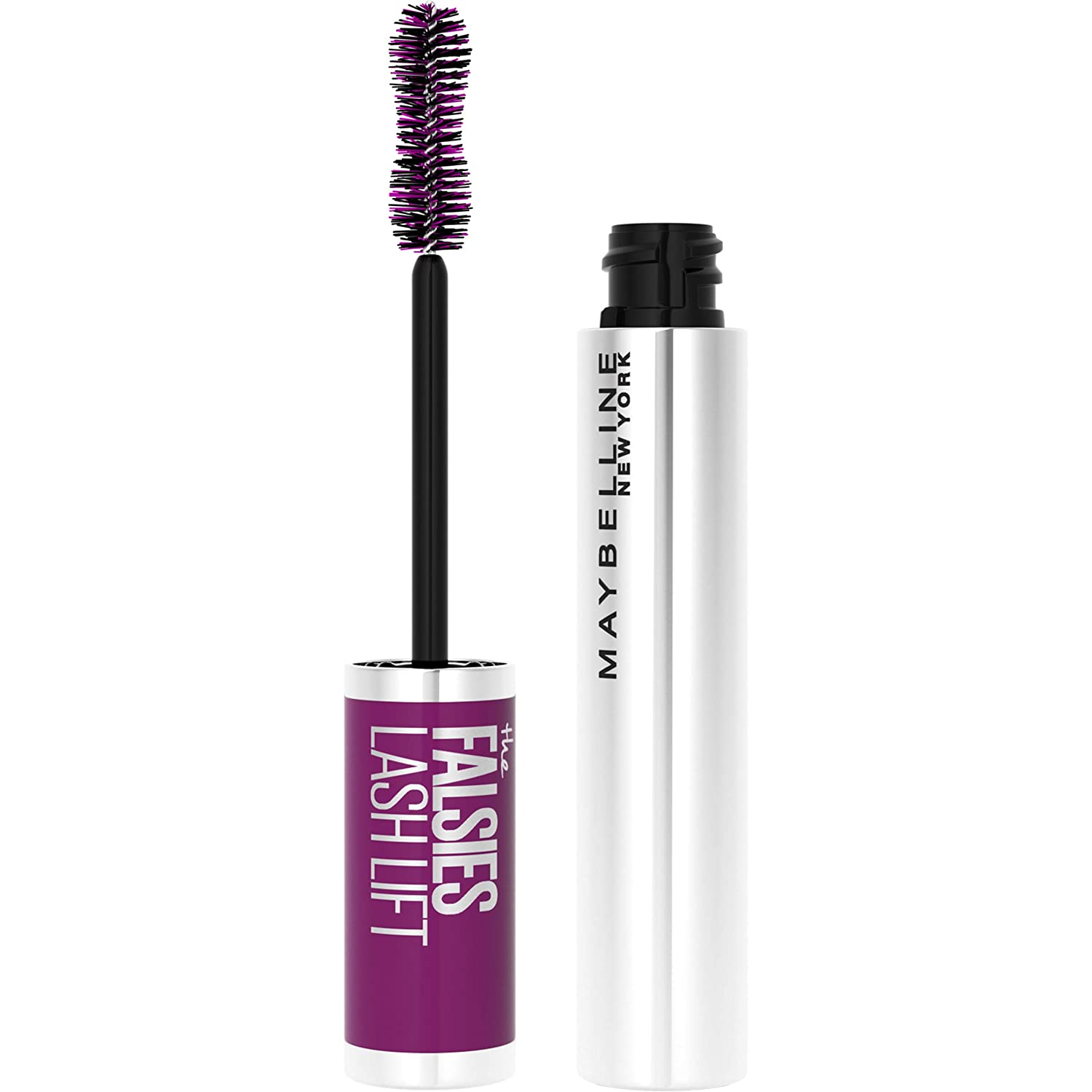 Maybelline the Falsies Lash Lift Washable Mascara Volumizing, Lengthening, Lifting, Curling, Multiplying, Eye Makeup, Blackest Black, 0.32 Fl. Oz