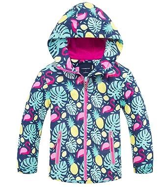 ca19605750a Amazon.com  Welity Girl s Full Zip Warm Fleece Lined Waterproof ...
