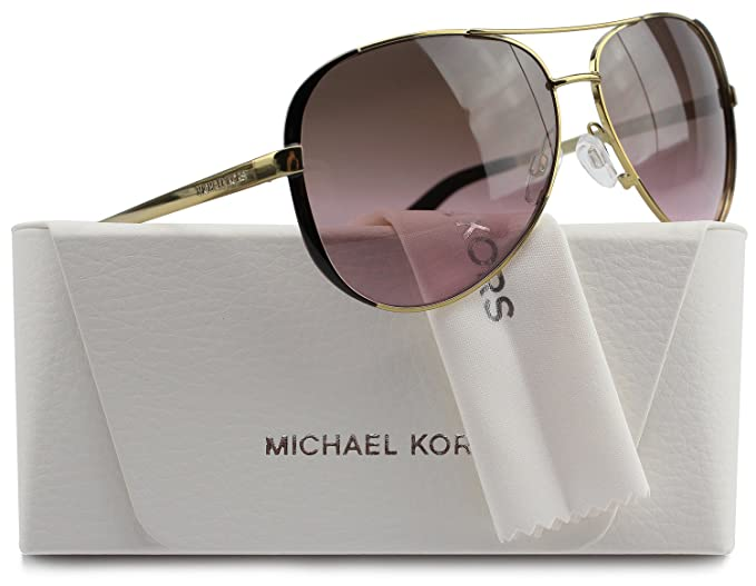 c9863270848 Image Unavailable. Image not available for. Colour  Michael Kors MK5004  Chelsea Aviator Sunglasses Gold w Rose Gradient (1014 14)