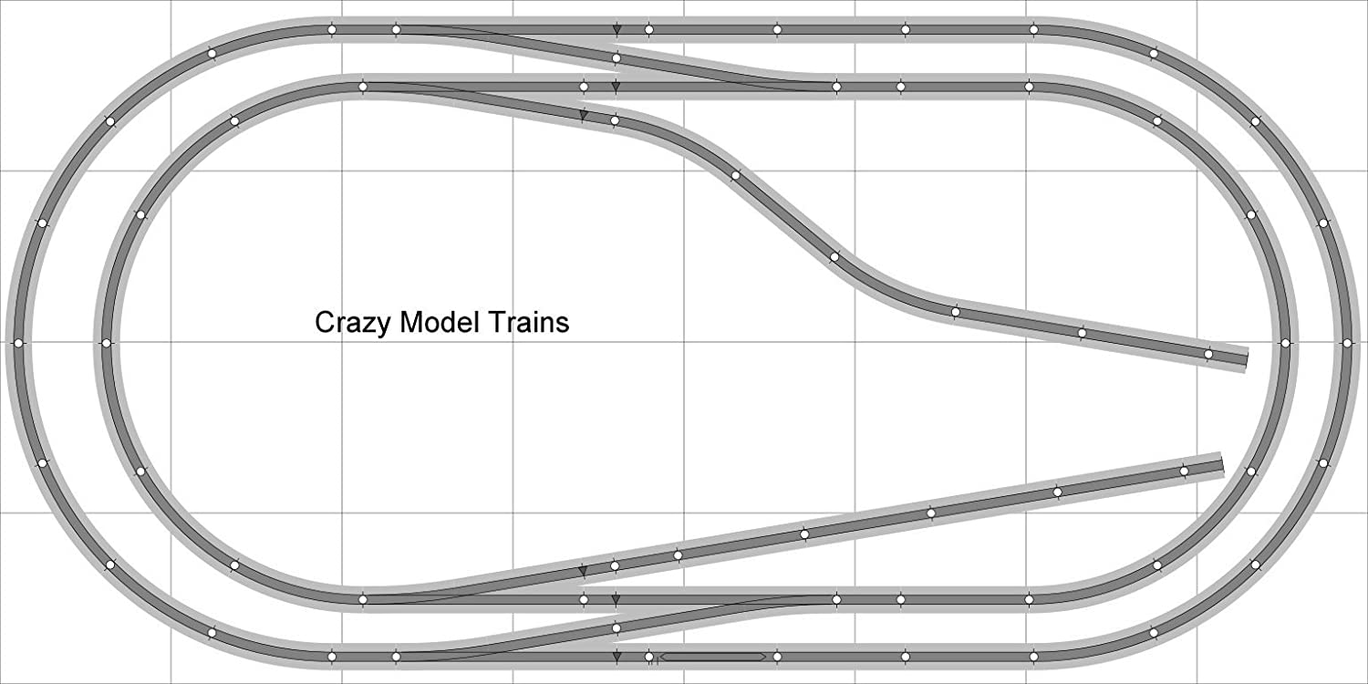 Train Layout 001 Dcc Bachmann Ho Ez Track Ns Nickel Model Mountain Scenery Also Wiring Diagrams On Silver 4 X 8 New Set Bac Gr L001d Toys Games