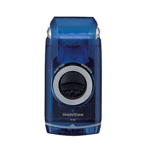 Braun MobileShave M-60b Portable Electric Shaver,Blue