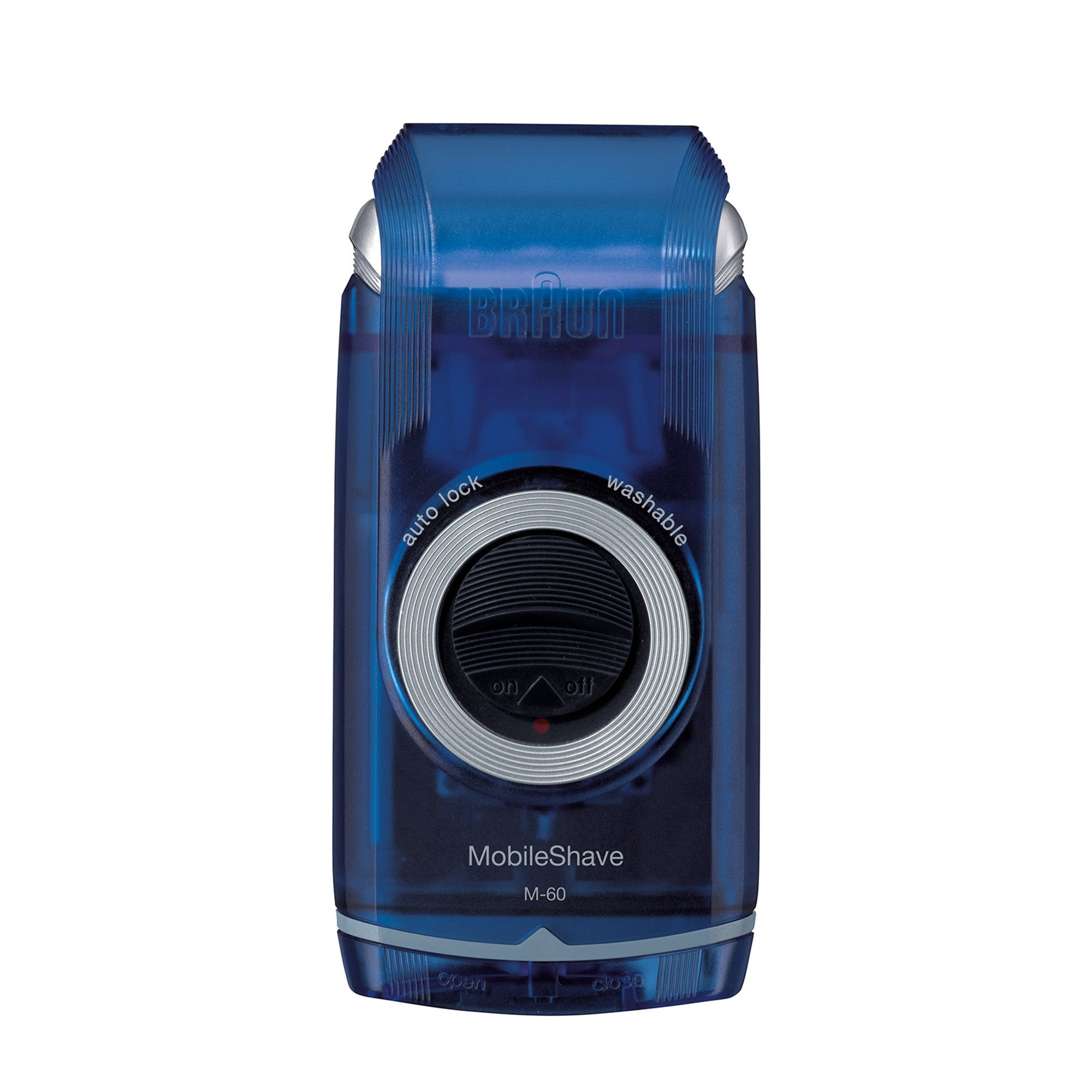 Braun PocketGo M60b MobileShave - Afeitadora eléctrica para hombre portátil, máquina de afeitar barba,