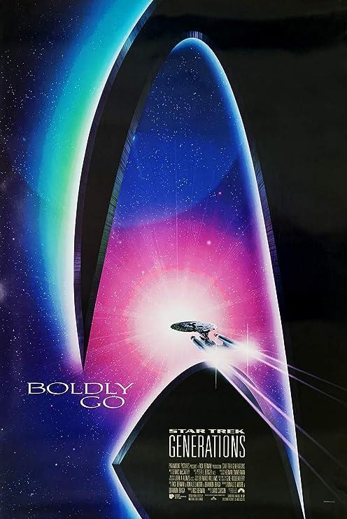 STAR TREK GENERATIONS MOVIE POSTER 1 Sided ORIGINAL 27X40 PATRICK STEWART