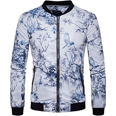 Men's Stand Collar Casual Outwear Jacket for Spring Summer and Fall