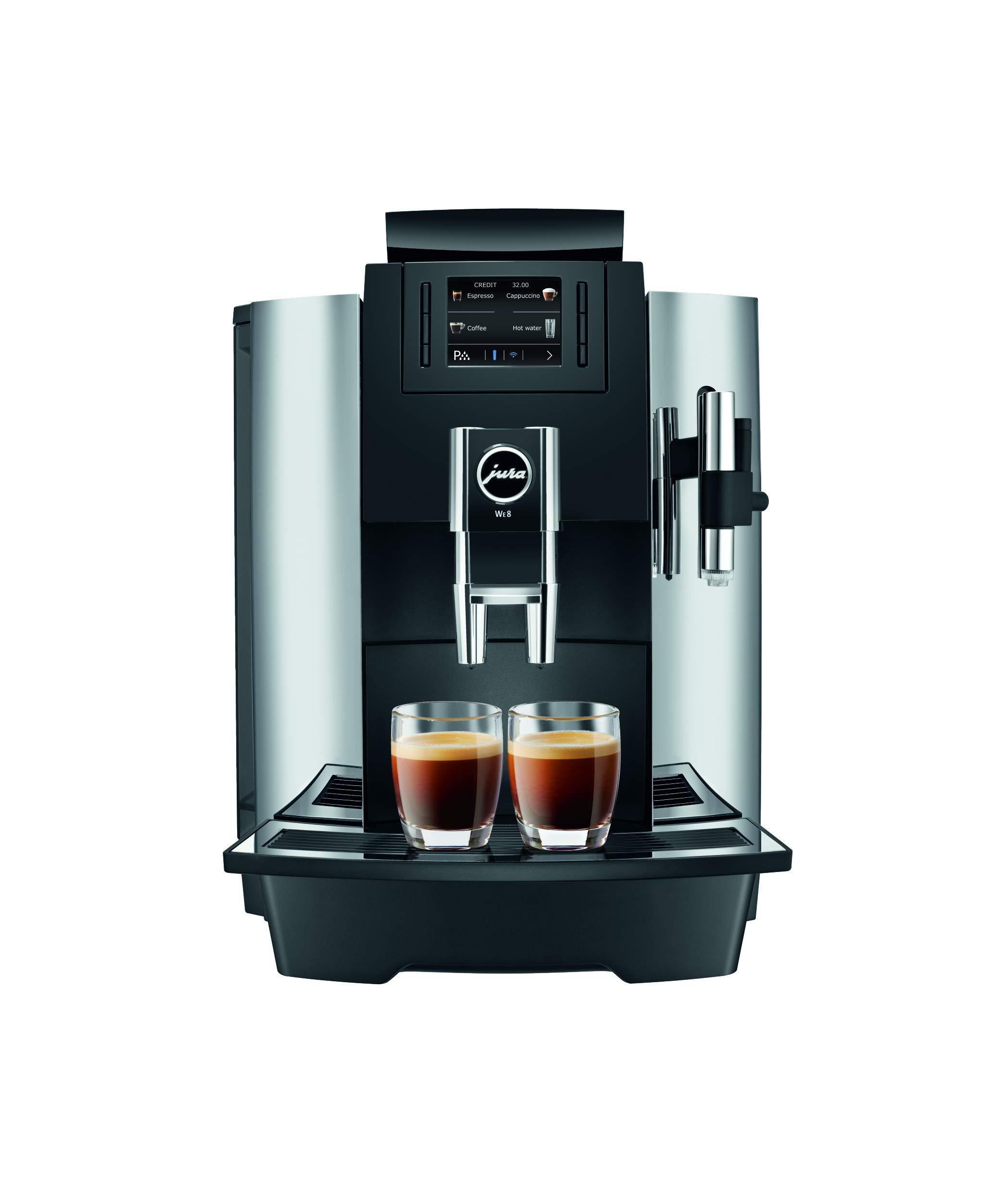 Jura 15145 Automatic Coffee Machine WE8, Chrome by Jura