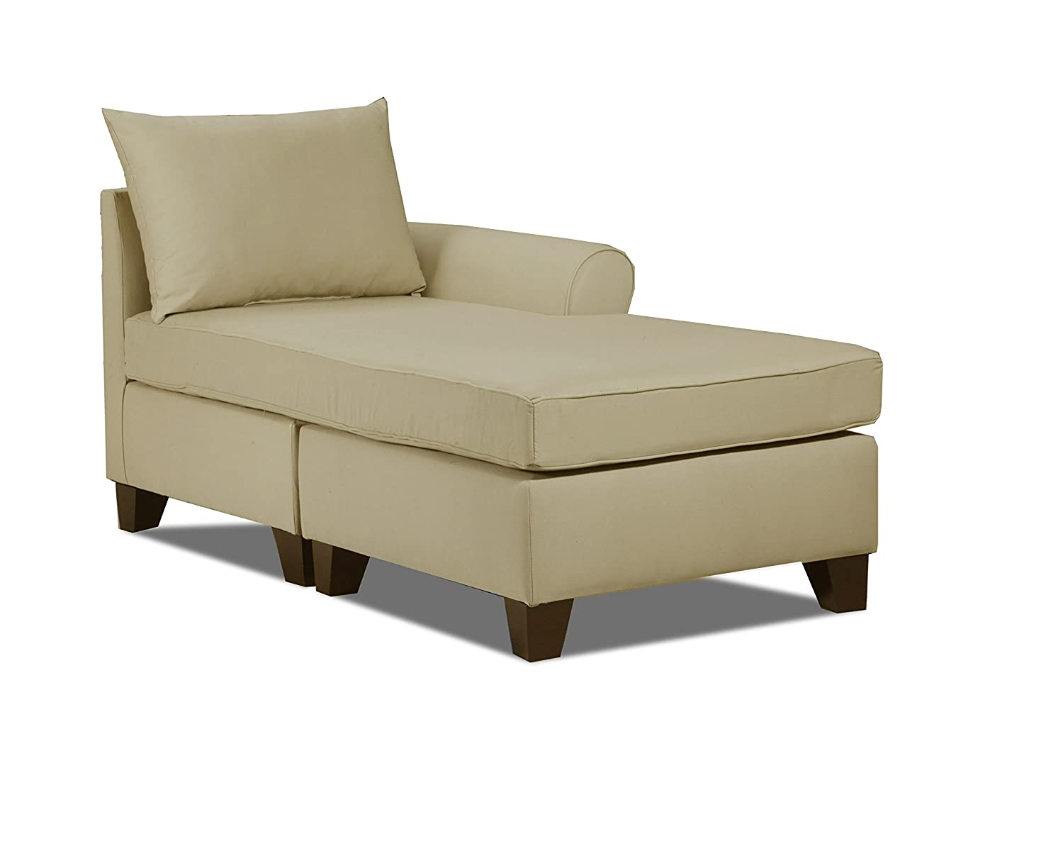 amazon com carolina accents belle meade right arm chaise khaki