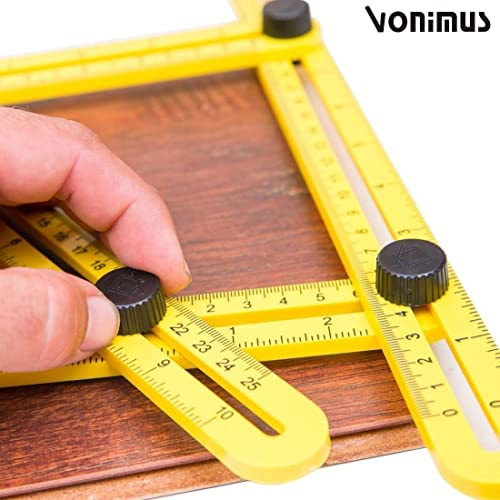 Angleizer Template Tool, Vonimus Multi-Angle Measuring Ruler, General Angleizer Template Ruler for Handymen, Builders, Craftsmen