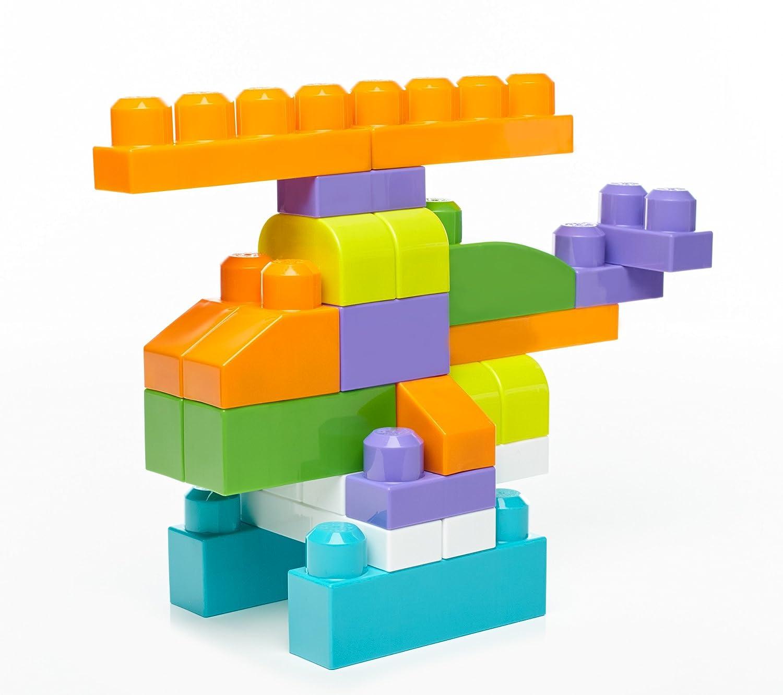 Amazon Mega Bloks Big Building Bag Trendy 80 Piece Toys