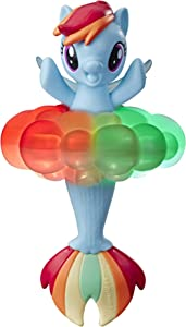 My Little Pony Toy Rainbow Lights Rainbow Dash -- Floating Water-Play Seapony Figure with Lights, Kids Ages 3 Years Old and Up