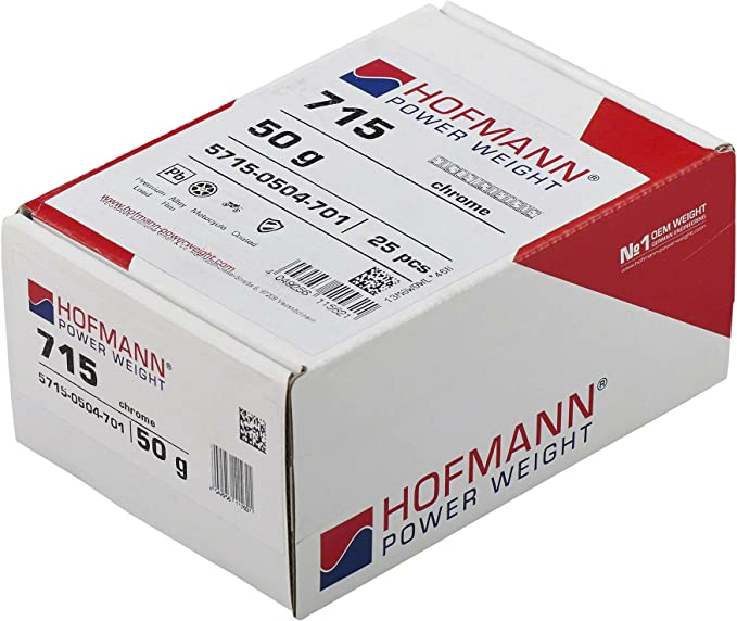Hofmann Power Weight 5715 0504 701 Typ715 Chrom 25x Klebegewicht Motorrad 50g Kleberiegel Auswuchtgewicht Motorrad Auto