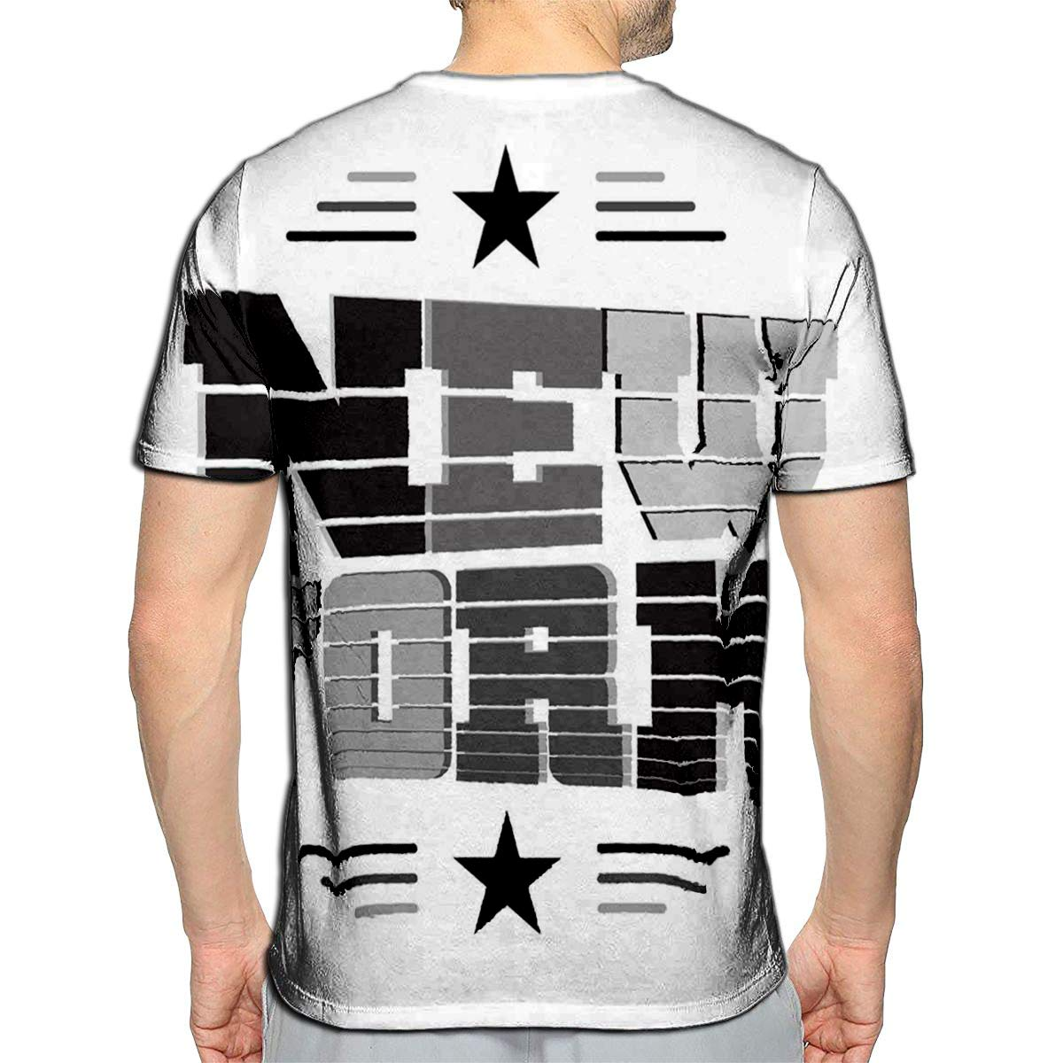 YILINGER 3D Printed T Shirts Brevity Casual Mens Hipster Top Tees