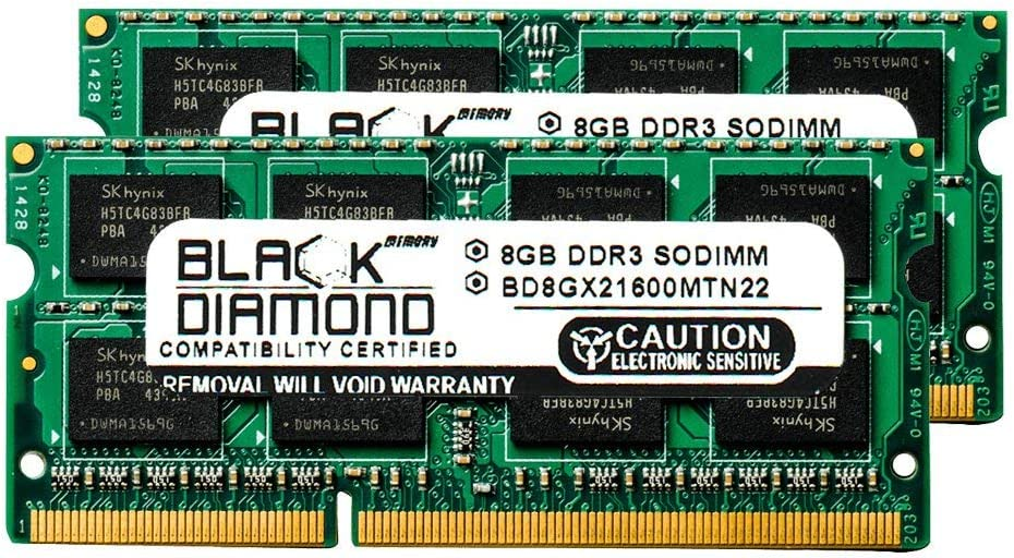 16GB 2X8GB RAM Memory for Compaq HP Business Notebooks ProBook 6460b Black Diamond Memory Module DDR3 SO-DIMM 204pin PC3-12800 1600MHz Upgrade