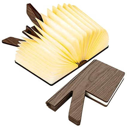 Amazon.com: Lámpara de madera plegable para libro ...