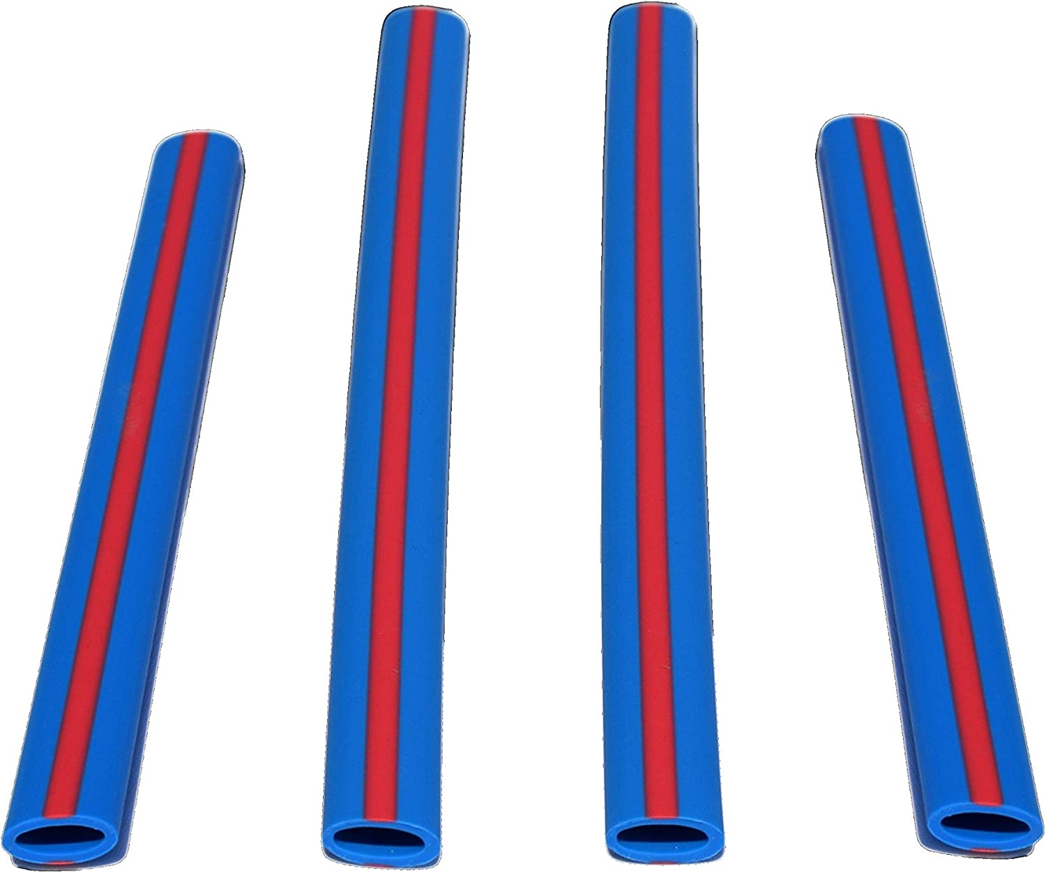 HotSips Reusable Straws 2 Small + 2 Med with Travel Case, Navy w/Red Stripe Reusable ECO Friendly Straws For Both Cold & Hot Beverages - 8oz - 16oz - Non Toxic BPA Free FDA Grade material Recyclable