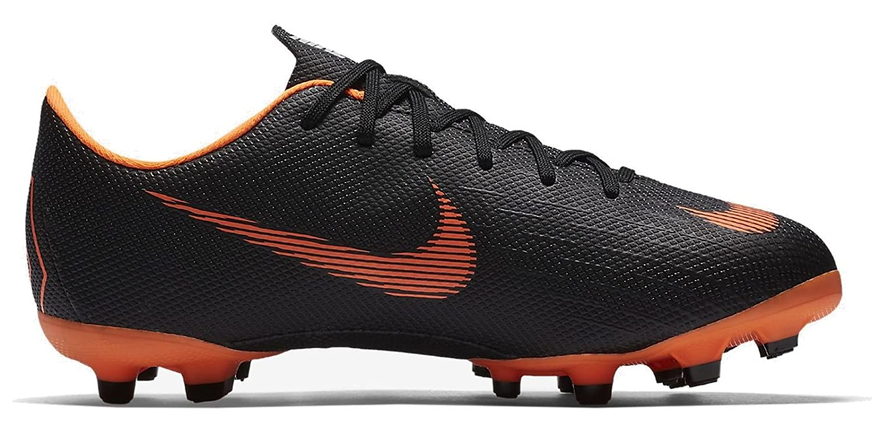Nike Herren Mercurial Vapor Xii Academy MG Fuszlig;ballschuhe  47 EU|Schwarz (Black/Total Orange-w 081)