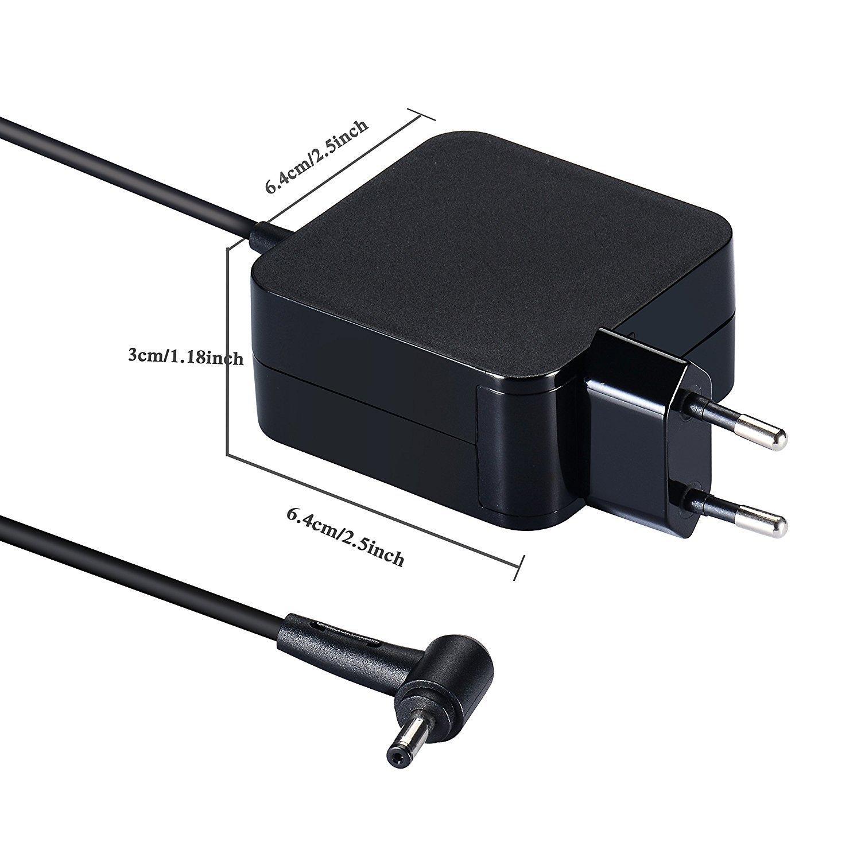 45W Notebook Laptop Adaptador de Cargador de CA Cable de alimentación para ASUS X556U X556UR X556UA X556UF X556;F553 F553MA F556 F556UA F302LA;E402 ...