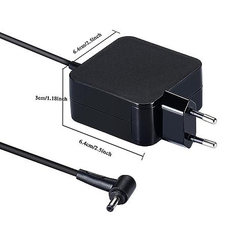 45W Notebook Laptop Adaptador de Cargador de CA Cable de alimentación para ASUS X540 X540LA X540SA;X541 X541SA X541UA X200LA;UX330 UX330UA U38 ...