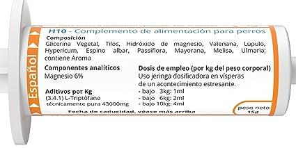 ww7 H10 Fórmula Natural para la Calma y la Tranquilidad del Perro -15 ML: Amazon.es: Productos para mascotas